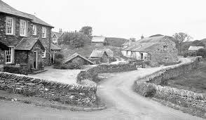 Staveley-in-Cartmel village many years ago in black and white